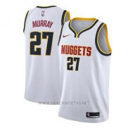 Camiseta Denver Nuggets Jamal Murray NO 27 Association 2018-19 Blanco