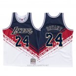 Camiseta Los Angeles Lakers Kobe Bryant Independence Day NO 24 Mitchell & Ness Blanco