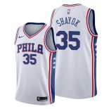 Camiseta Philadelphia 76ers Marial Shayok NO 35 Association Blanco