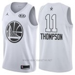 Camiseta All Star 2018 Golden State Warriors Klay Thompson NO 11 Blanco