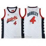Camiseta USA 1996 Charles Barkley NO 4 Blanco