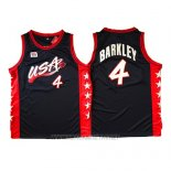 Camiseta USA 1996 Charles Barkley NO 4 Negro