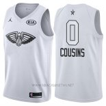 Camiseta All Star 2018 New Orleans Pelicans Demarcus Cousins NO 0 Blanco