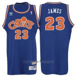 Camiseta Cleveland Cavaliers LeBron James NO 23 Retro 2008 Azul