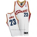 Camiseta Cleveland Cavaliers LeBron James NO 23 Retro Blanco
