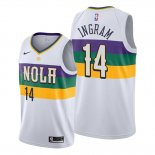 Camiseta New Orleans Pelicans Brandon Ingram NO 14 Ciudad Blanco