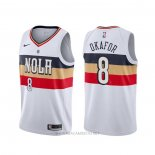 Camiseta New Orleans Pelicans Jahlil Okafor NO 8 Earned Blanco