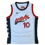 Camiseta USA 1996 Reggie Miller NO 10 Blanco