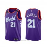 Camiseta 2020 Rising Star Moritz Wagner NO 21 World Violeta