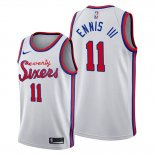 Camiseta Philadelphia 76ers James Ennis III NO 11 Classic 2019-20 Blanco