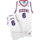 Camiseta Philadelphia 76ers Julius Erving NO 6 Retro Blanco