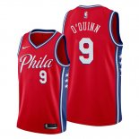 Camiseta Philadelphia 76ers Kyle O'quinn NO 9 Statement Edition Rojo