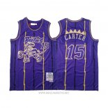 Camiseta Toronto Raptors Vince Carter NO 15 2020 Chinese New Year Throwback Violeta