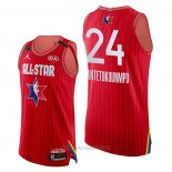 Camiseta All Star 2020 Milwaukee Bucks Giannis Antetokounmpo Autentico NO 24 Rojo