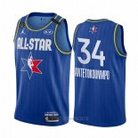 Camiseta All Star 2020 Milwaukee Bucks Giannis Antetokounmpo NO 34 Azul