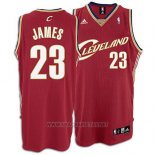 Camiseta Cleveland Cavaliers LeBron James NO 23 Retro Rojo