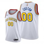 Camiseta Golden State Warriors Personalizada Classic Edition 2019-20 Blanco